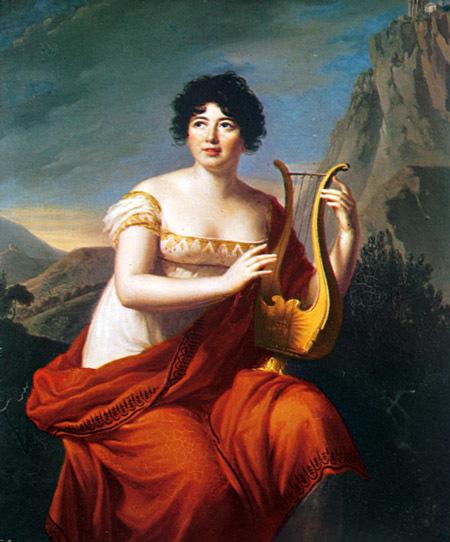 Madame de Staël. Maleri av Elisabeth Vigée-Lebrun, omkring 1800. Musée d'art et d'Histoire, Genève. ©Fri - fri lisens